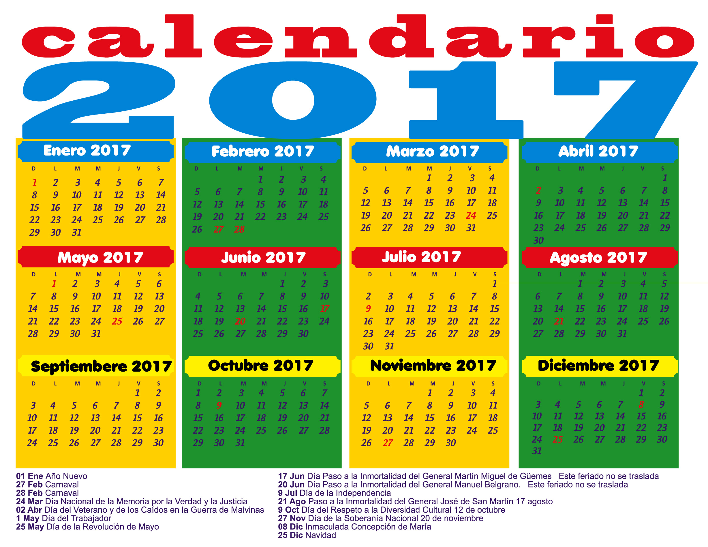 Photo collection calendario 2017 peru feriados for Horario peru wellness