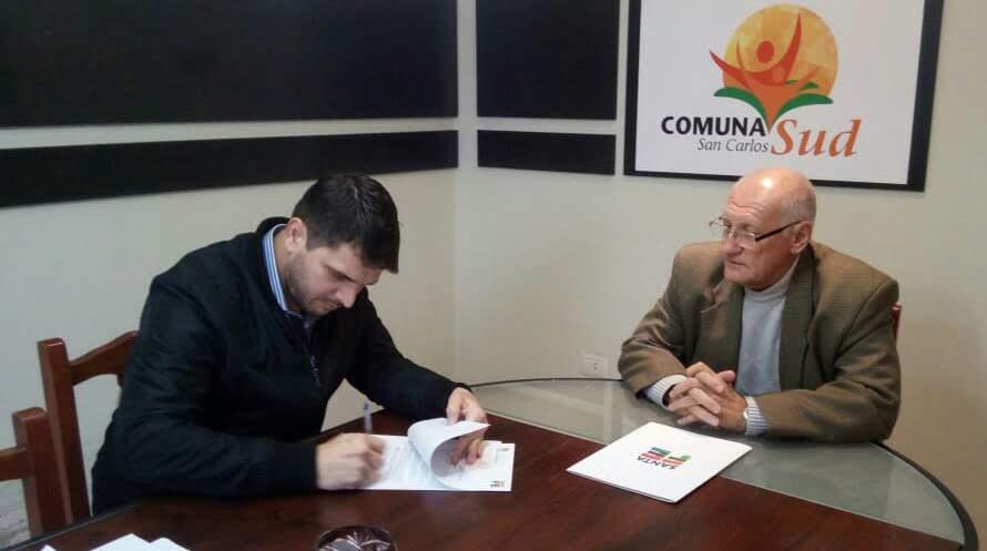 San Carlos Sud, firma convenio con la administración provincial de vialidad