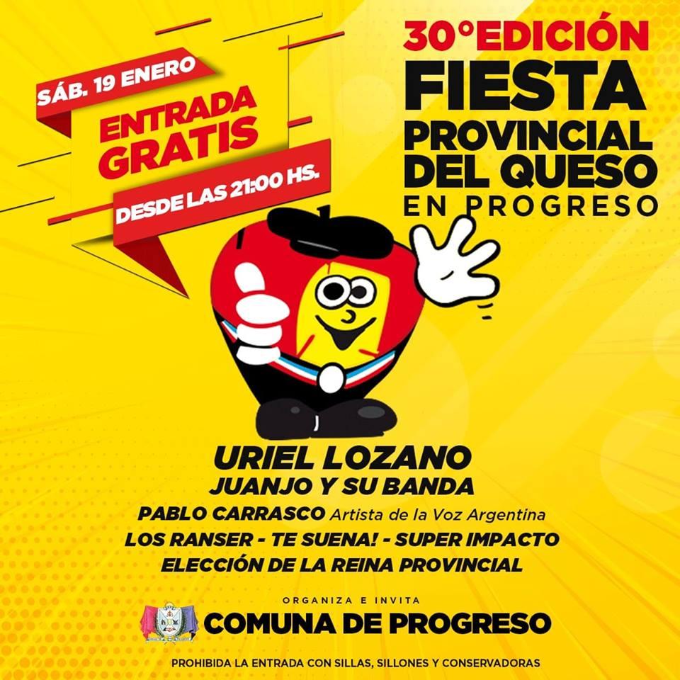 Mañana se Realiza la Fiesta Provincial del Queso en Progreso